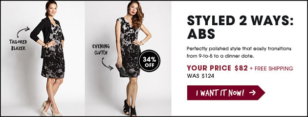 Deal of the Day - ABS Dress on sale from Shop It To Me