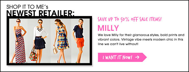 New Retailer Addition: Milly.com