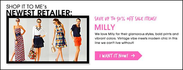 New retailer milly.com