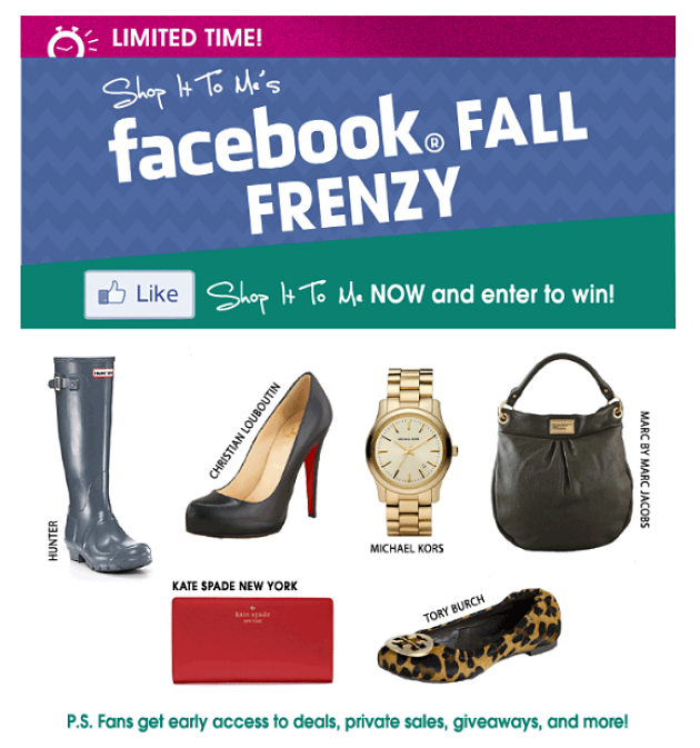 Facebook Fall Frenzy...LIKE us and win!