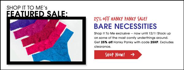 Hanky Panky Sale