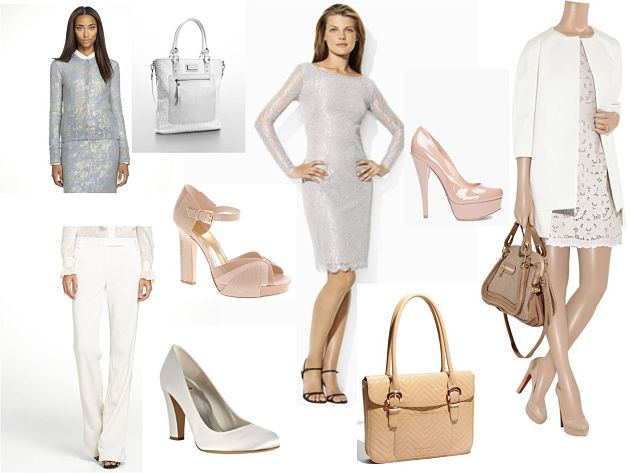White-based work-wear outfit