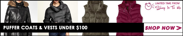 Puffer Coats and Vests under $100