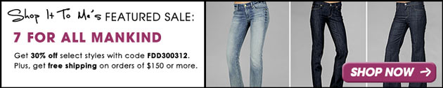 7 For All Mankind 30% off Sale