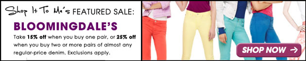 Bloomigdale's Denim Days Sale