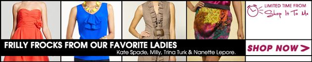 Frilly Frocks from our Favorite Ladies: Kate Spade, Milly, Trina Turk and Nanette Lepore