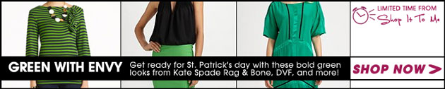 Green With Envy: St. Patrick's Day Picks from Kate Spade, DVF, Rag & Bone and more