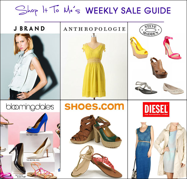 Weekly Sale Guide: J Brand, Anthropologie, Bloomingdale's and more