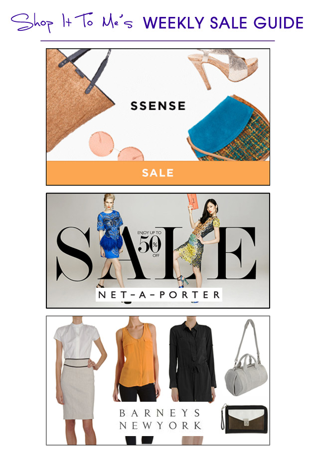Weekly Sale Guide: Designer Markdowns from Barneys New York, Net-A-Porter & SSENSE