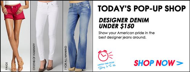 Designer denim under $150