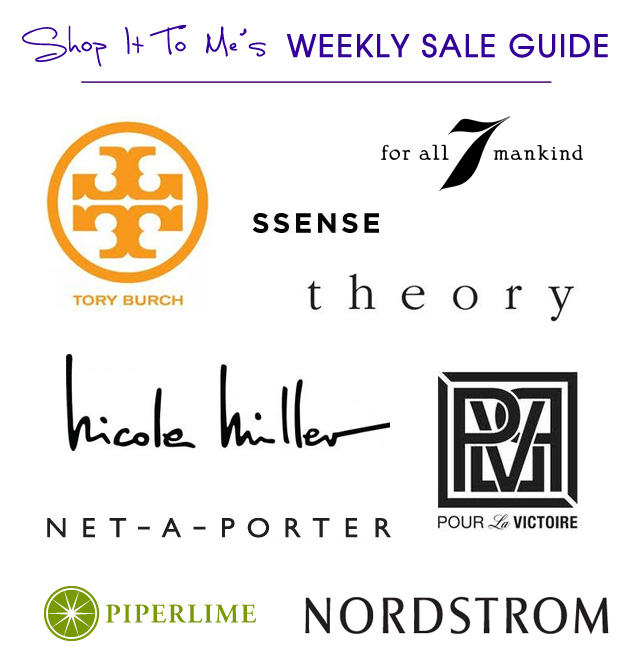Weekly Sale Guide: Tory Burch, 7 For All Mankind, Net-A-Porter and 6 more!