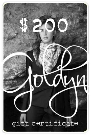 $200 Goldyn gift certificate
