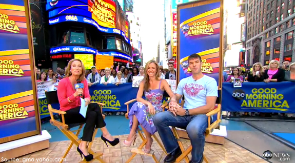Bachelorette Trista Sutter on Good Morning America in Nanette Lepore
