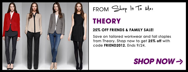 Weekly Sale Guide: Theory, Last Call by Neiman Marcus and Brooks Brothers