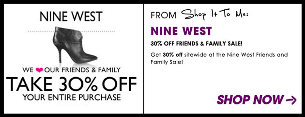 Weekly Sale Guide: Nine West, 7 For All Mankind, Diesel & more