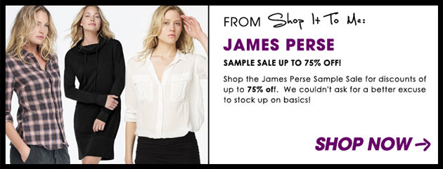Weekly Sale Guide: James Perse Sample Sale, DVF & Marimekko