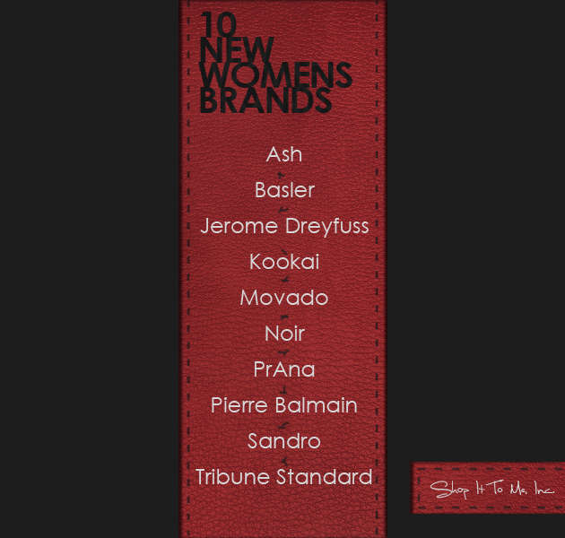 Announcing 10 More Women's Brands! Pierre Balmain, Ash, Tribune Standard and More!