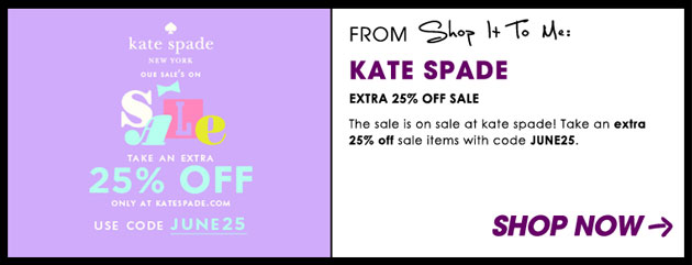 Weekly Sale Guide: Kate Spade, DVF and James Perse