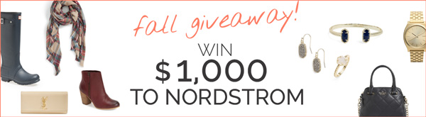 GIVEAWAY: Win $1,000 to Nordstrom!