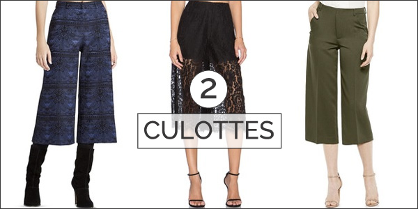 culottes - top 5 trends