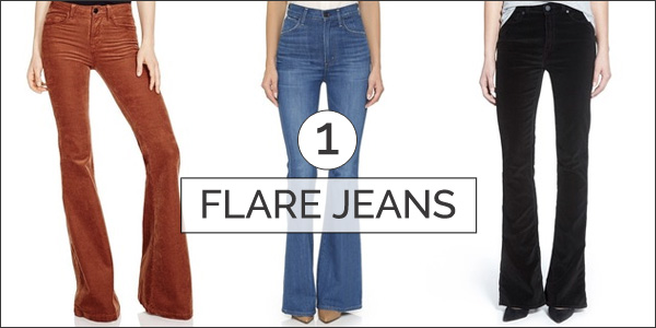 flare jeans - top 5 trends