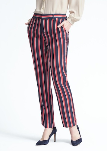 Banana Republic multi-striped pants