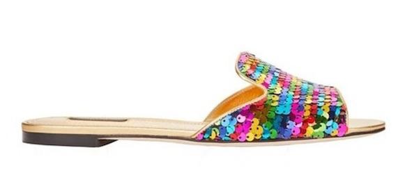 Dolce Gabbana Sequin Slide Sandal