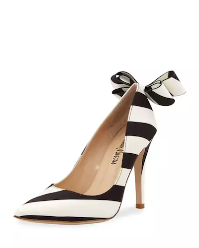 Neiman Marcus striped pumps