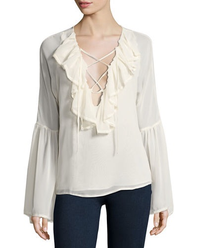 Romeo & Juliet Couture long sleeve ruffled blouse