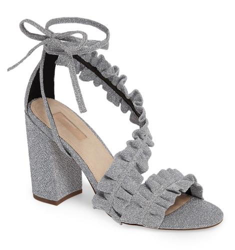 Topshop asymmetrical ruffled sandal