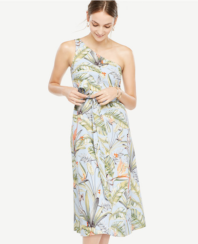 Ann Taylor Tropical One Shoulder