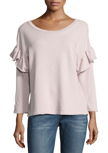 Current Eliott ruffle sweatershirt