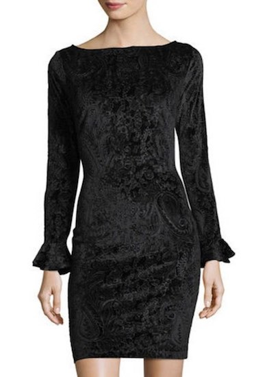 Neiman Marcus Burnout Velvet Dress