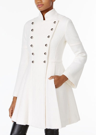 Double Breasted Skirt Coat