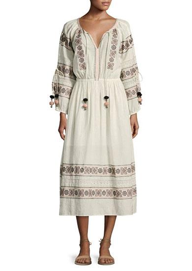 Isla Embroidered Dress