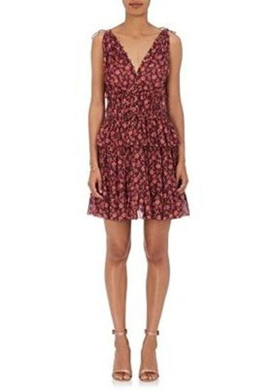 Noelle Floral Cotton Silk Mini Dress
