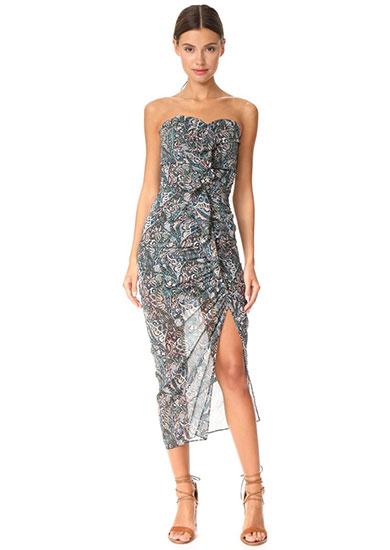 Peyton Strapless Ruched Dress