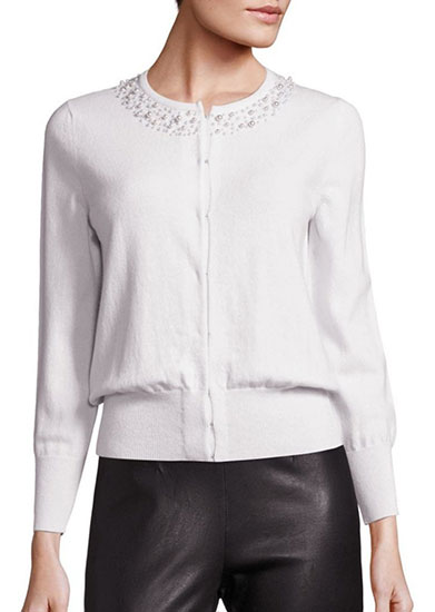 Collection Pearl Trim Cardigan