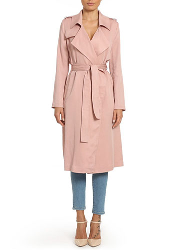 Badgley Mischka Faux Leather Trench Coat