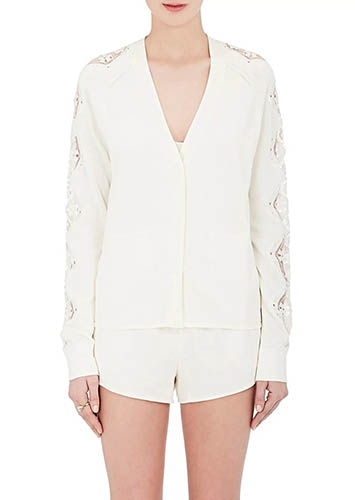 Chloé oversized white cardigan