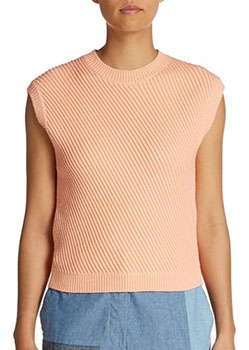asymmetrical ribbed cropped sweate