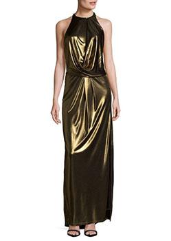 Mettalic Halter Gown