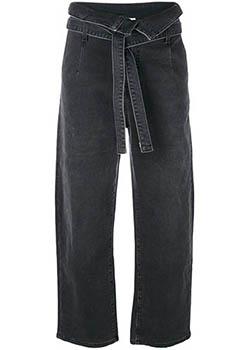 black wide legged jeans