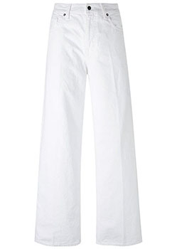 White wide legged jeans