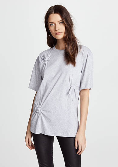 Knot Detail Oversized Tee